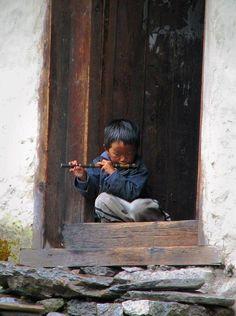little musician boy