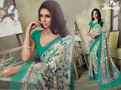 Get the multicolor georgette digital floral printed sarees along with sea green unstitched blouse from Laxmipati Saree. Laxmipati Sarees, Catalog Online, Printed Sarees, Buy Prints, Occasion Wear, Daily Wear, Bridal Collection, Casual Wear, Print Design