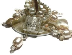 Bridal Wine glass charm  purse charm by SugarLumpCreations on Etsy