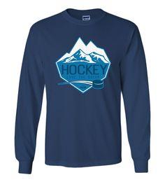 Hockey Live The Dream Mens/Womens Long Sleeve T-Shirt by NOAClothingCompany on…