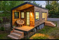 Macy Miller designed this incredible tiny home to accomodate a simpler lifestyle and budget.  $11,000 !!!!