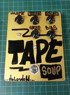 Tape Soup, real true pitch shifting vibe effects pedal for your guitar, bass, or whatever you like. $100.00, via Etsy.