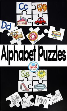 Help your preschoolers learn their ABCs with Alphabet Puzzles! Use in your homeschool, Kindergarten, or First Grade classrooms. Color and black and white versions included! Review beginning sounds using version one of alphabet puzzle with the word accomp