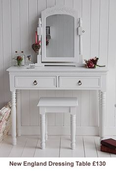 Dressing table - i want a smallish dressing tbale to go under the window and painted the same colour as the drawers