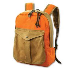 Filson Twill Orange/Tan Backpack FIL-70083-UT