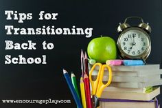 Tips for Transitioning Back to School  http://www.encourageplay.com/blog/tips-for-transitioning-back-to-school School starts soon, are you ready to get the kids back into the swing of the school year? Check out our tips!