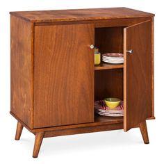 Mid Century Modern Storage Cabinet Brown - Foremost