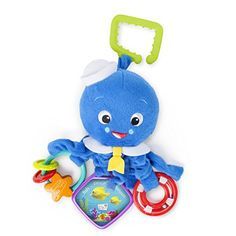 Armfuls of activities to keep baby entertained and engaged at home or on-the-go. The Activity Arms Octopus from Baby Einstein is a soft plush friend with developmental activities that entertain and ...