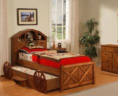 Woody style bed.  Fit for a cowboy