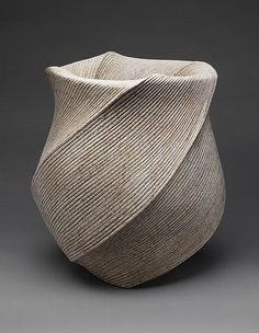 Listening to the Waves (Choto)  Sakiyama Takayuki (Japanese, born 1958; active Kamomura, Shizuoka Prefecture)  Date: 2004 Culture: Japan Medium: Stoneware with sand glaze