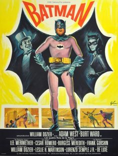 Original Vintage Posters -> Cinema Posters -> Batman 1966 French Grande - AntikBar