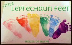 Little Leprechaun Feet - St. Patricks Day Print Crafts -House of Burke