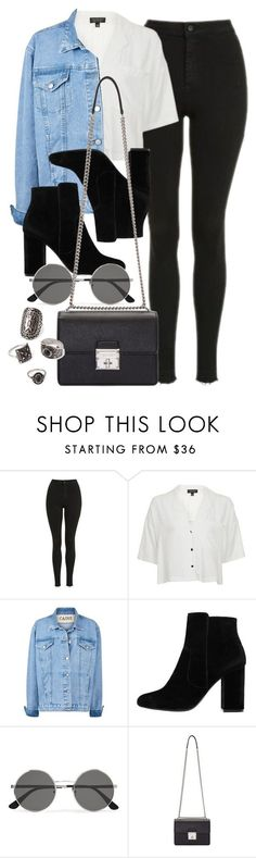 """Style #11629"" by vany-alvarado ❤ liked on Polyvore featuring Topshop, MANGO, Yves Saint Laurent, Dolce&Gabbana and Forever 21 #jeansjacket"