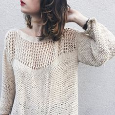 Eyelet sweater. the perfect DIY and knitting project