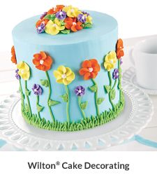 Cake Decorating Classes Michaels Bakersfield : My wilton course 1 final cake Decorated cakes ...