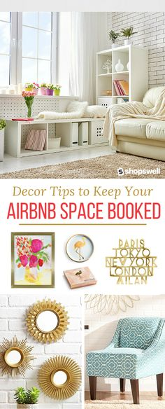 If you're an Airbnb home owner you won't want to miss these four decor tips. Clickthrough and learn how to keep travelers coming back for more.