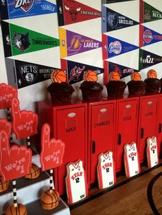 Jersey cookies at a Basketball Birthday Party!  See more party ideas at CatchMyParty.com!  #partyideas #basketball