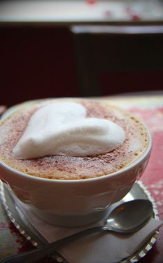 A cappucino after dinner makes the meal PERFECT!!!  Love...
