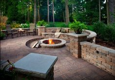 Garden fire pit and City Beautiful Landscaping can create a retaining wall to accent