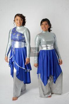 Don't be afraid to mix and match designs in the same color scheme! Praise Dance Wear, Praise Dance Dresses, Worship Dance, Celtic Dress, Garment Of Praise, Dance Uniforms, Dance Images, Dance Outfits, Dance Costumes