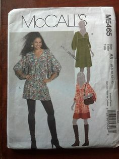McCalls 5465 - ladies tunic and dress