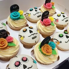 Another view of the day of the dead cupcakes @laurasiandavies #cupcakes…
