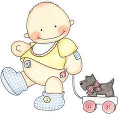 Imagen lamina para decoupage de bebe - grupos.