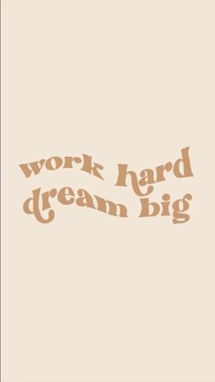 An inspiring quote that reminds you when you work hard, you can dream big. #motivationalquotes #dreambig #successmindset #fitnessmotivation Peace Quotes, Gratitude Quotes, Dream Quotes, Bible Quotes, Words Quotes, Wall Quotes, Quotes To Live By, Motivational Quotes, Cute Quotes