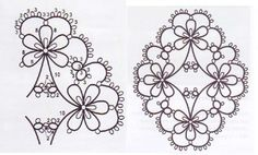 Diagram by jane eborall with ds count of oval pattern pg 8 home beautiful tatting book 4 – Artofit Tatting Earrings, Tatting Jewelry, Tatting Lace, Lace Patterns, Jewelry Patterns, Stitch Patterns, Crochet Patterns, Shuttle Tatting Patterns, Needle Tatting Patterns