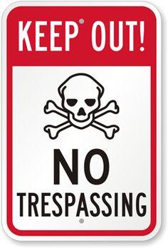 No Trespassing Sign - Keep Out Signs | Download FREE PDF, SKU: K-9536