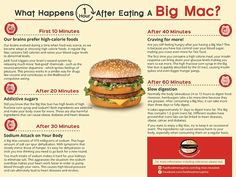 The infographic by Fast Food Menu Price reveals what eating a Big Mac burger can do to your body