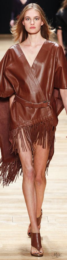 Spring 2016 Ready-to-Wear Barbara Bui Brown Fashion, Leather Fashion, News Fashion, Fashion Week 2016, Skin To Skin, Catwalk Fashion, Glamour, Bronze, Leather And Lace