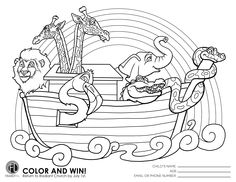 Preschool Have A Coloring Contest Going On Please Bring Their Noah Sheet Back By