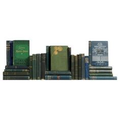 Check out this item at One Kings Lane! Antique Blue & Green Bookshelf, S/25