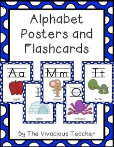 Alphabet posters and flashcards are a necessary resource for early elementary teachers! Grades Pre-K-2 ~ The Vivacious Teacher