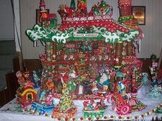 I MADE A GINGERBREAD CREATION AND DONATED  TO THE PRIMARY CHILDREN'S HOSPITAL FUND RAISER THE FESTIVAL OF TREES HELD AT THE SOUTH TOWNE EXPO CENTER IN