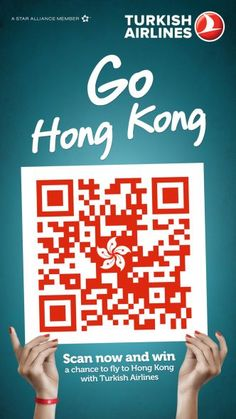 Turkish Airlines: QR Flags, Hong Kong