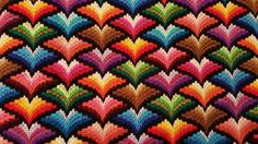 My Seventh Bargello finished !!!! ❤