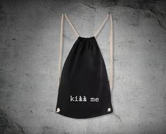"Beutel // Totebag ""kiss me"" by peter-panik via DaWanda.com"