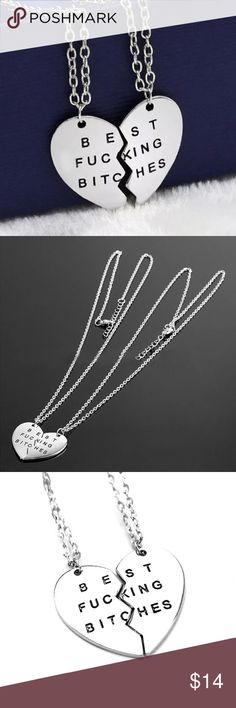 Best Friends Silver Necklaces - 2 Piece Brand new Jewelry Necklaces