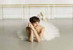 When ever I can't do something in ballet, if it is en point or grade work, I think of Darcey Bussell.