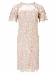 8f257fa54 Jacques Vert Nude Dresses Womens Lace Detail Tunic Dress 647372-D01  www.jacquesvertssale.