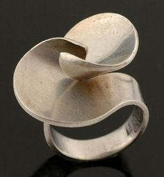A silver ring by Georg Jensen of abstract twist design … I used to have this ring. Jorgen Hostrup-Pedersen (owner Georg Jensen, London) gave it to me in 1968.