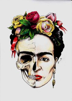 Best Ideas For Wall Paper Frida Kahlo Paintings Frida Tattoo, Frida Kahlo Tattoos, Catrina Tattoo, Diego Rivera, Printable Poster, Kahlo Paintings, Aquarell Tattoo, Frida Art, Mexican Artists