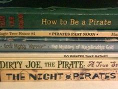 PIRATES! Books for preschool and elementary aged boys. (And some pirate links, too.)