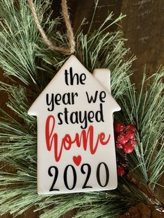 Christmas Projects, Christmas Holiday, Christmas Ideas, Christmas Decorations, House Silhouette, Homemade Wreaths, House Ornaments, Personalized Christmas Ornaments, Wall Collage