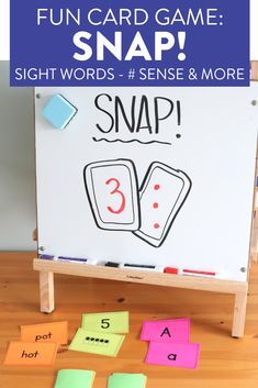 Snap is a card game which allows students to practice sight words, number sense, and more in a fun way! This activity is a hit in first grade classrooms! First Grade Activities, Teaching First Grade, First Grade Classroom, Phonics Activities, Math Games, Teaching Kids, Kindergarten Games, Multiplication Games, Fun Math