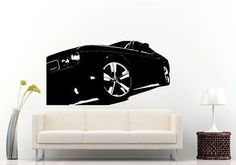 Sport racing american muscle car blueprint wall decal vinyl wall or car decal vinyl sticker american muscle car coupe l1028 malvernweather Choice Image