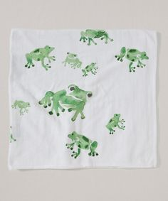 Take a look at this 44'' x 44'' Cloud Frog Gauze Organic Blanket on zulily today!