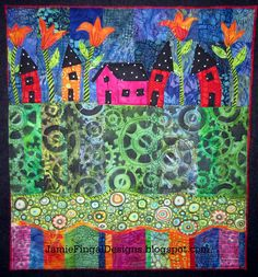 House Quilt by Jamie Fingal  http://JamieFingalDesigns.blogspot.com/